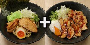 EPARKテイクアウトシェアセット割引キャンペーン(濃厚鶏白湯つけ麺と炙り鶏チャーシュー半熟玉子丼のセット)